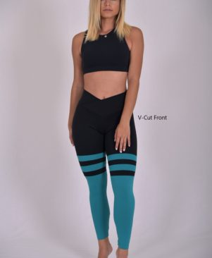 Jade Striped Leggings