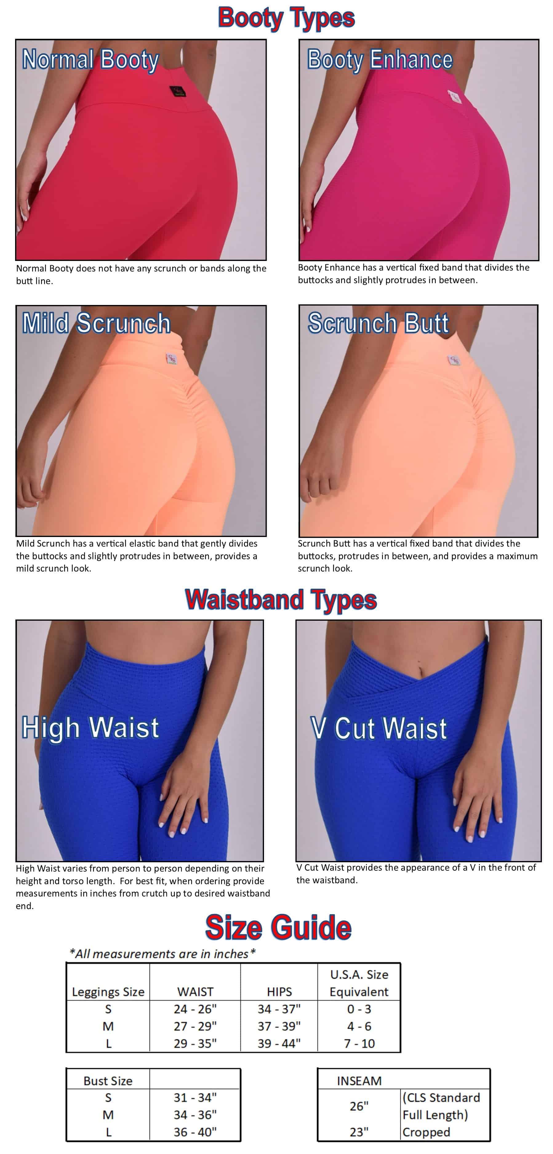 cls sportswear - leggings, scrunch butt, yoga pants, tights
