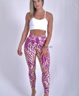 NC Viva Light Purple Palm Leggings