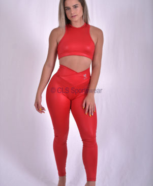 NC Elite Glossy Leggings Scarlet