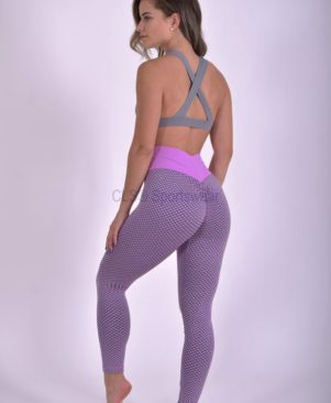 Geo Textured Leggings Aurora