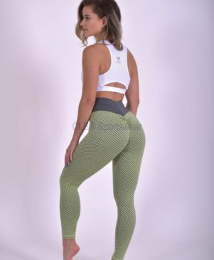 NC Geo Textured Leggings Caipirinha