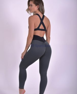 NC Geo Textured Grafite Leggings And Biker Shorts