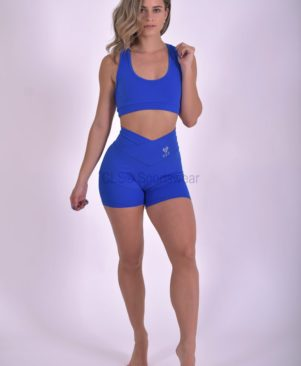 NC Palace Blue Mesh Short Shorts