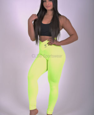 Trance Textured Leggings Neo Yellow
