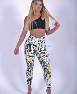 NC Shape Wild Cheetah Leggings And Biker Shorts