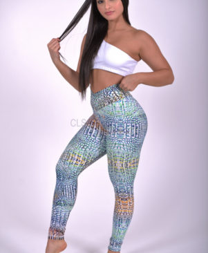 NC Shape Wild Lizard Leggings
