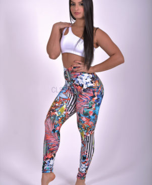 NC Shape Wild Vertical Garden Leggings