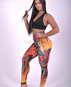 NC Shape Wild Abstract Leggings