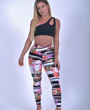 NC Shape Wild Horizontal Garden Leggings