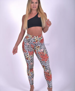 NC Shape Wild Small Marine Leopard Leggings