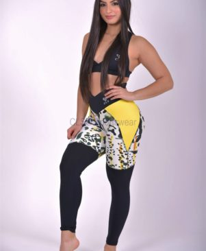 Shape Bicolor Yellow Cheetah Leggings