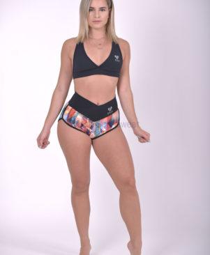 NC Shape Wild Shattered Glass Meia Loua Shorts