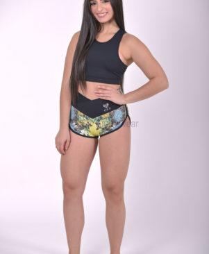NC Shape Wild Butterfly Meia Loua Shorts