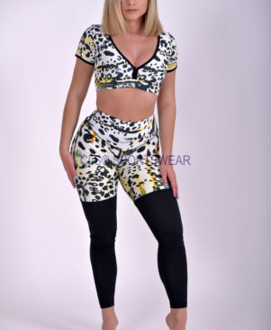 NC Elite Shape Cheetah Amanda Top