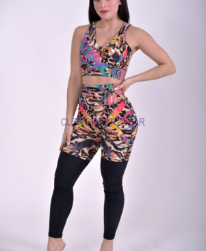 NC Yoga Leggings Shape African Mesh