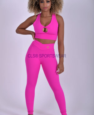 NC Shape Seamless Front Leggings Pink Glo
