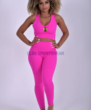 NC Yoga Leggings Shape Pink Glo