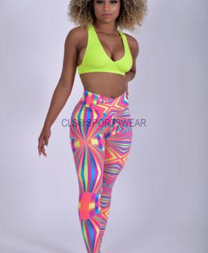 NC Viva Light Rainbow Fractal Leggings & Biker Shorts