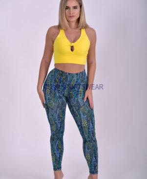 NC Viva Premium Blue Acuatica Leggings & Biker Shorts