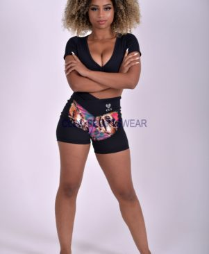 NC Shape Side Mesh Shorts African