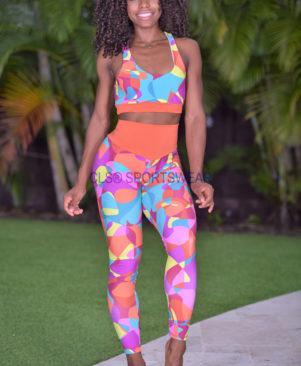 NC Shape Colorful Pebbles Bicolor Leggings