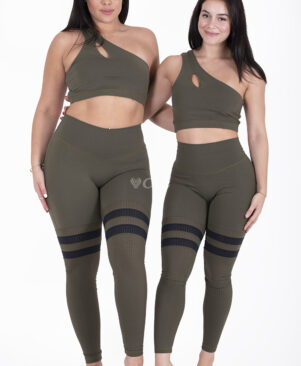 NC Seamless Front Striped Leggings Camuflagem
