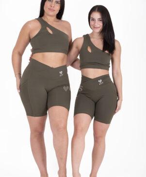 NC Confort Strong Biker Shorts Camuflagem